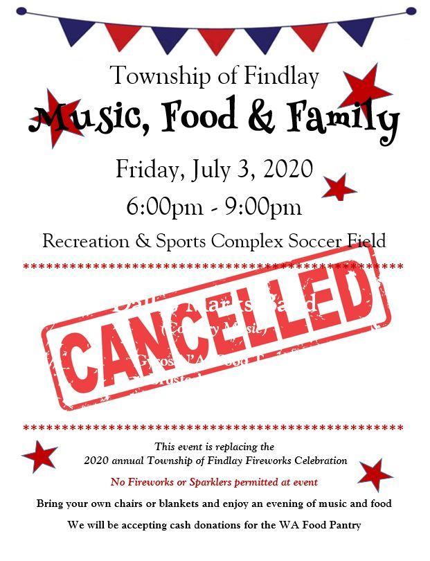 July 3rd Event Canceled
