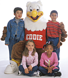 Eagle with 4 children