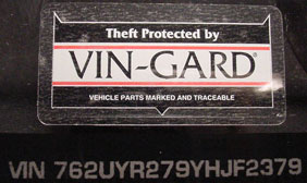 Theft Protected by VIN Gard